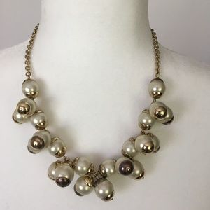 J. Crew Cluster Faux Pearl Necklace